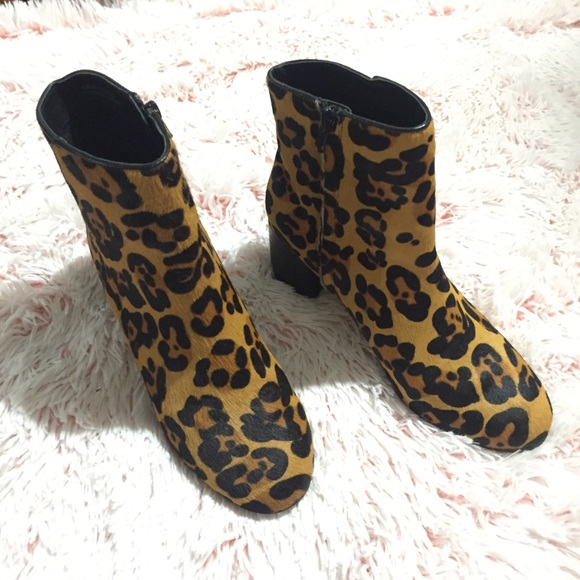 6e152ae52b1f Urban Outfitters Shoes   Uo Thelma Leopard Ankle Boots Like New ...